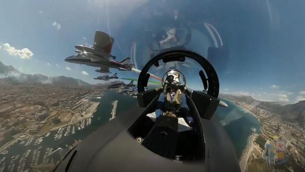 Aus dem Cockpit: Spektakuläre Aufnahmen der Frecce Tricolori
