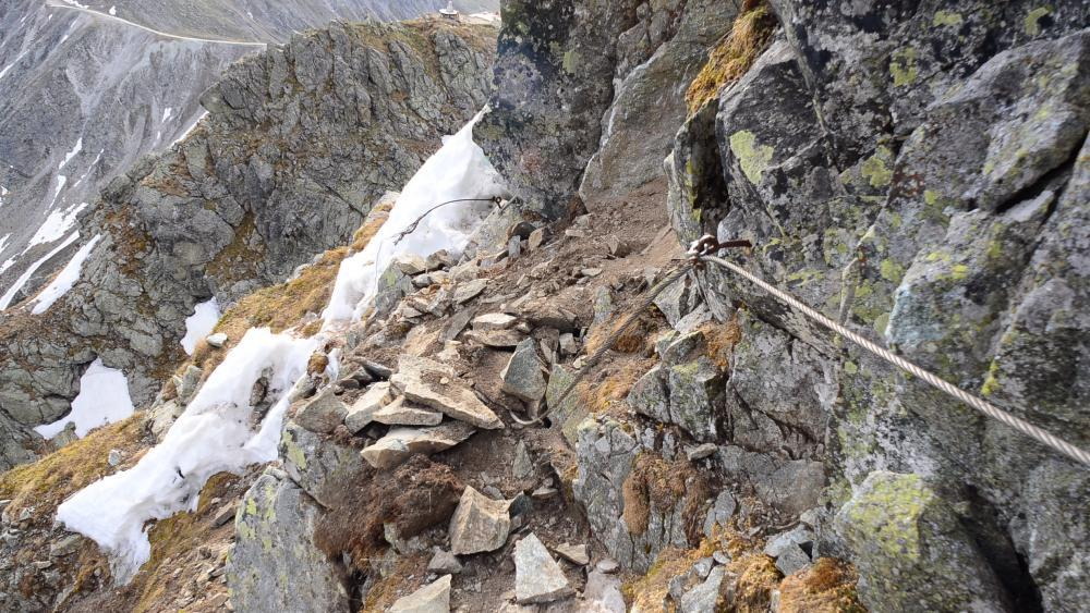 Klettersteig zum Großen Ifinger durch Steinschlag zerstört