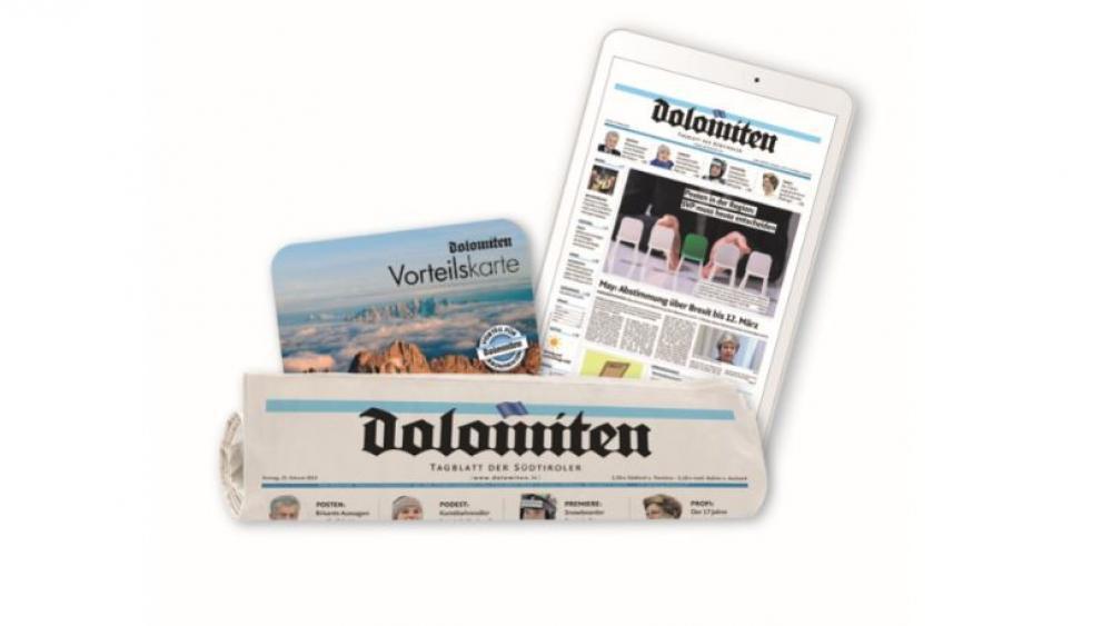 """""""Dolomiten""""-Magazin Preisrätsel – Ein """"Dolomiten""""-Jahres-Abonnement (print + digital)!"""