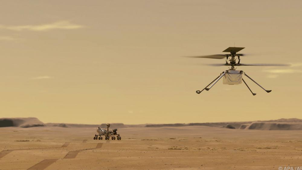 """Historischer Flug: Mars-Hubschrauber """"Ingenuity"""" erstmals abgehoben"""