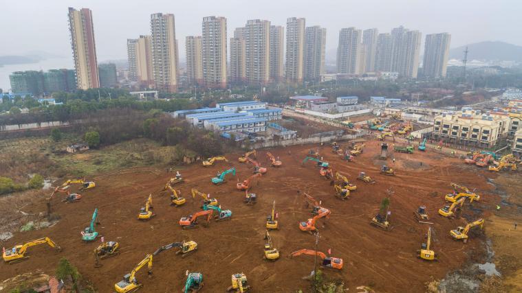 Krankenhaus Wuhan Bau