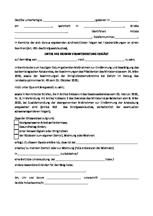 Eigenerklarung Zur Eignung Pdf Kostenfreier Download 15